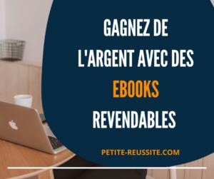 Les ebooks revendables sont faciles à transporter sur un support numérique