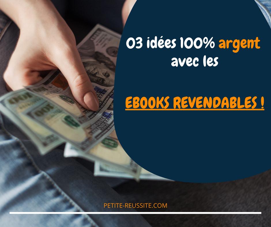 Il est plus en plus facile de gagner de l'argent avec des ebooks revendables en 2021