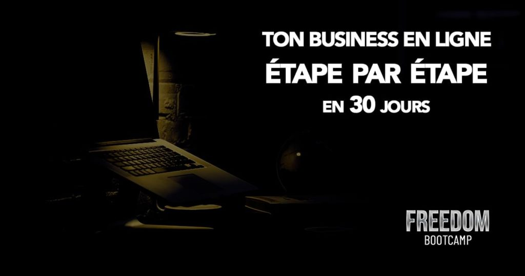 Freedom Bootcamp est un coaching sur le business en ligne