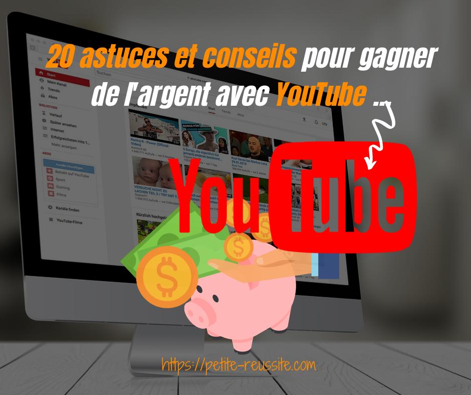 Gagner de l'argent avec YouTube en monétisant vos vidéos sur YouTube