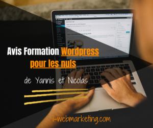 Formation WordPress pour les nuls