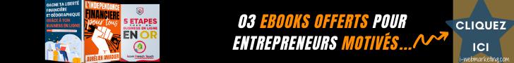 03 ebooks pour entrepreneurs